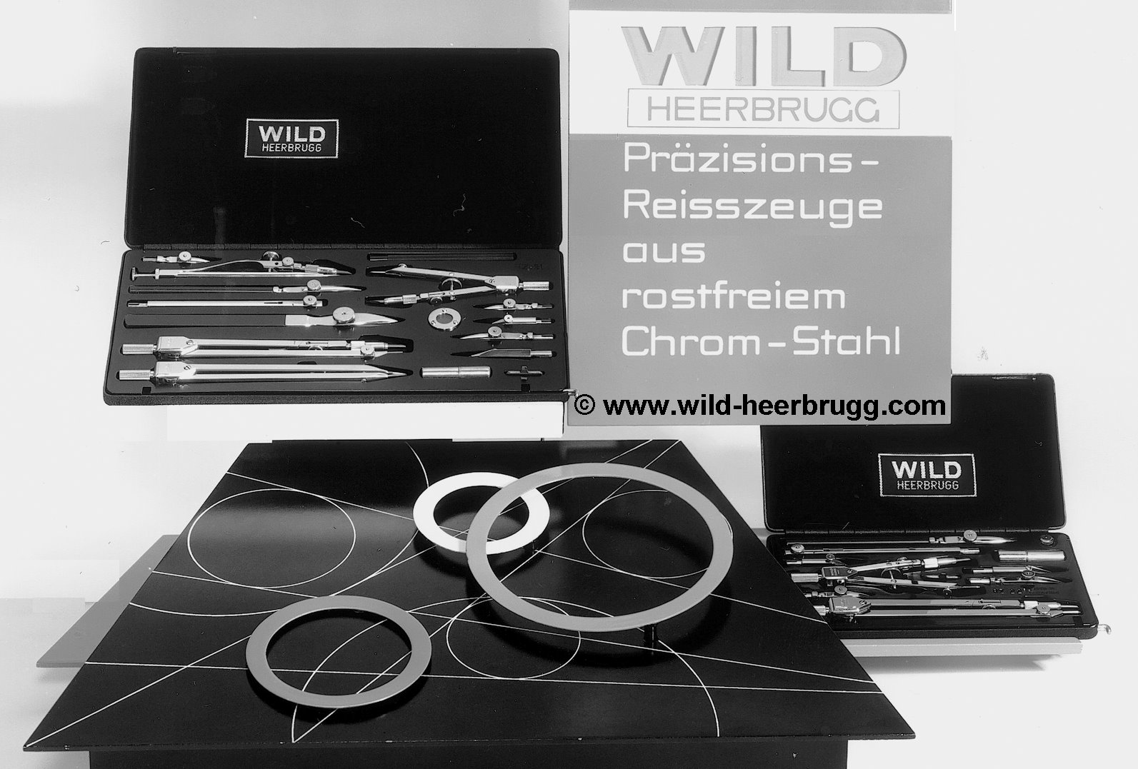 Wild Reisszeug showcase 1954