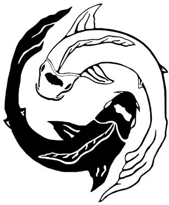 Yin Yang poissons logo internetjpg
