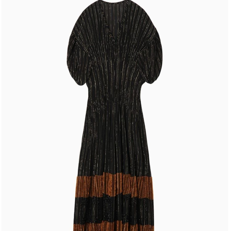 DONNA Les Boutiques - Shirring Dress black/brick