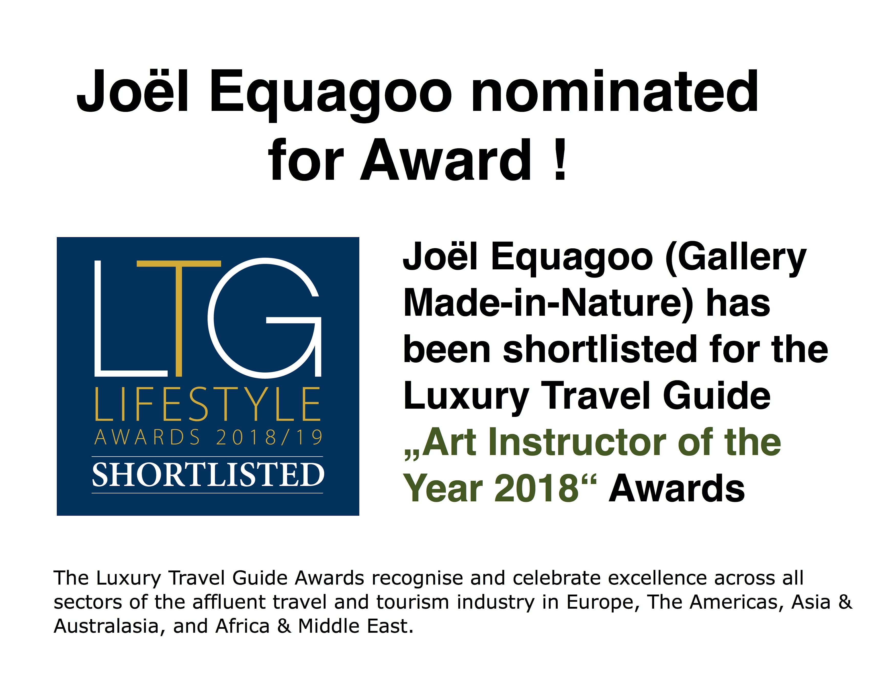 Jol Equagoo artist and designer Switzerland shortlisted for LTG award 2018jpgjpg