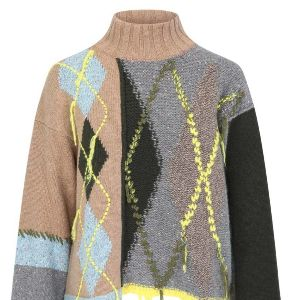 Antonio Marras - Sweater, high collar, pattern and stiching