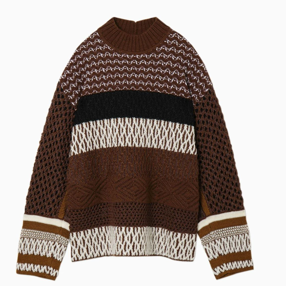 DONNA Les Boutiques - Knitted artisanal basketweave Sweater