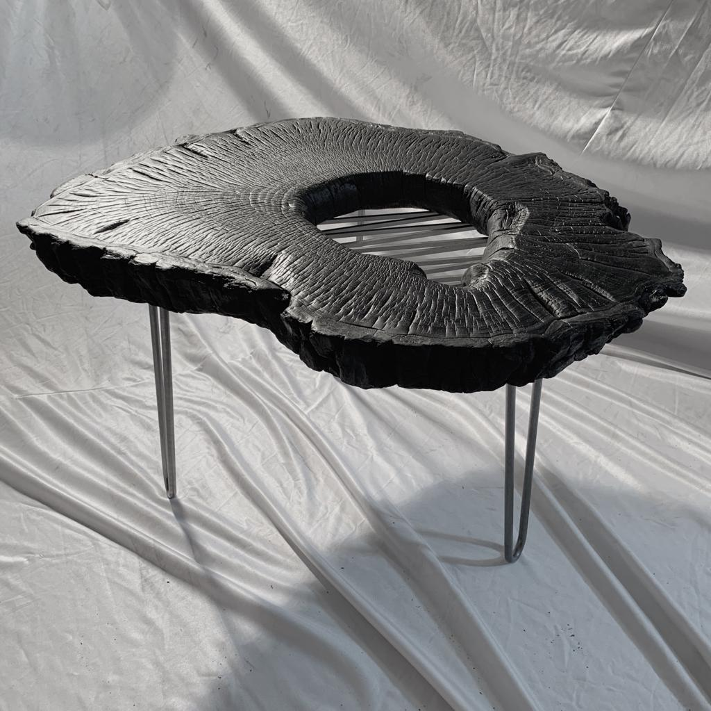 coffeetable black steel