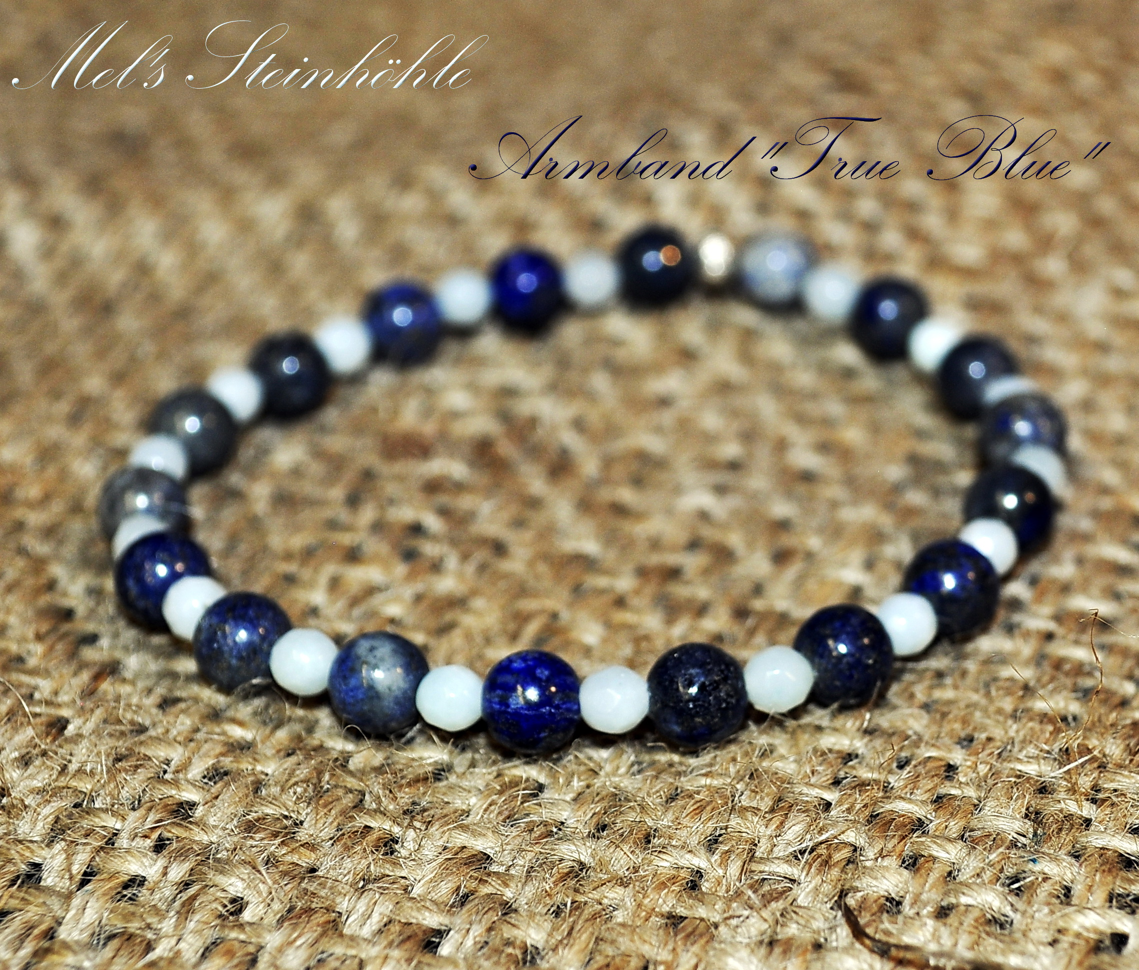 "Edelstein-Armband ""True blue"""